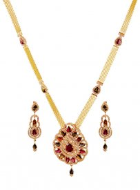 18k  Designer Tourmalin Diamond Set ( Diamond Necklace Sets )