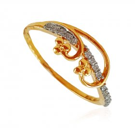18Karat Gold Diamond Ladies Ring