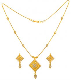 22k Gold Two Tone Necklace