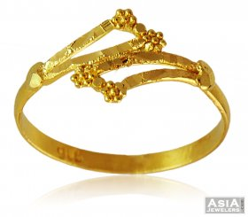 22k Yellow Gold Fancy Ring ( 22K Gold Rings )