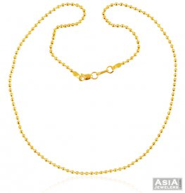 22K Gold Ball Chain  ( Gold Fancy Chains )