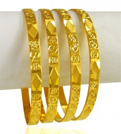 22 Karat Gold Bangle set (set of 4)