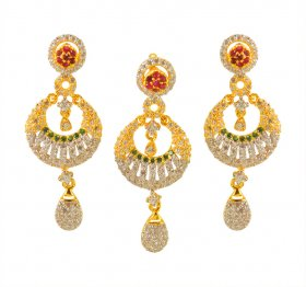 22karat Gold Fancy Pendant Set ( Gold Fancy Pendant Sets )