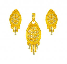 22kt Gold Two Tone  Pendant  Set