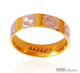 Gold Two Tone Ring (Band) ( Gold Wedding Bands )