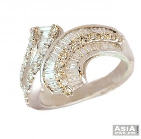 18K Fancy Ladies White Gold Ring