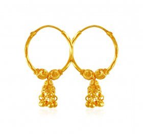 22karat Gold Hoops Earrings ( 22K Gold Hoops )