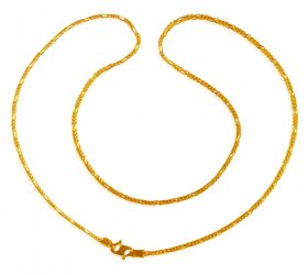 22 Kt Gold 16 Inches Long Chain ( Plain Gold Chains )