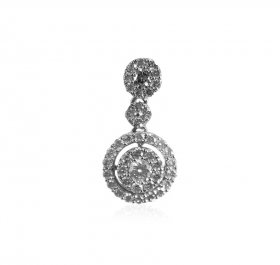 18K White Gold Diamond Pendant ( Diamond Pendants )