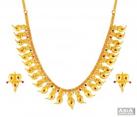 22K Gold Mango Mala ( 22K Gold Necklace Sets )