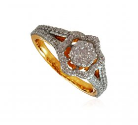 18K Yellow Gold Diamond Ring ( Diamond Rings (Ladies) )