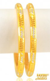 22 kt Gold Machine Bangles (2Pc)