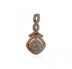 18K Yellow Gold Diamond Pendant ( Diamond Pendants )