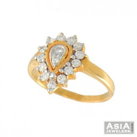 Ladies Diamond Ring (18k gold) ( Diamond Rings (Ladies) )