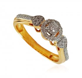 18k Fancy Solitaire Diamond Ring