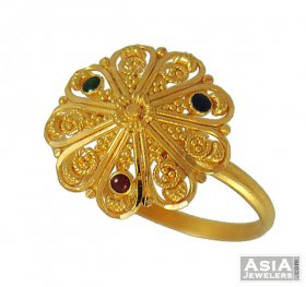 22K Gold Meenakari Ring ( 22K Gold Rings )