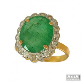 Emerald Ring (22 K Gold)
