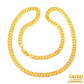 22KT Gold Men Chain 22 In ( Mens Gold Chain )