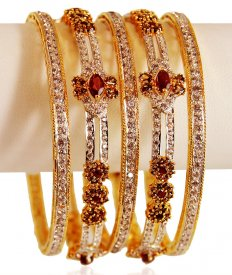 22Kt Gold Bangle Set (5 PCs)