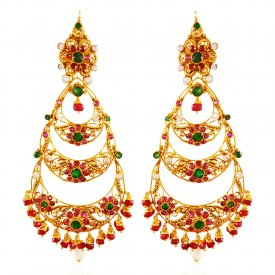 22Kt Gold Chand Bali Earrings