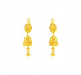 22karat Gold Jhumkhi Earrings