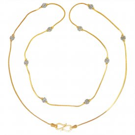 22 Karat Gold Two Tone Chain for Girls