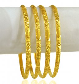 22KT Gold Bangles Set (4 PCs)