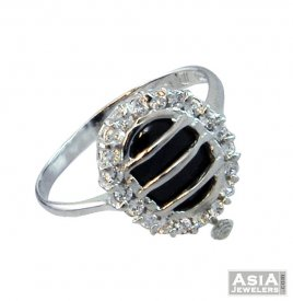 18K Fancy White Gold Ring ( White Gold Rings )
