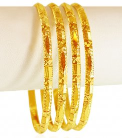 22kt Gold Bangle Set (4 PC)