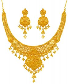 22K Gold Necklace Set ( 22K Gold Necklace Sets )