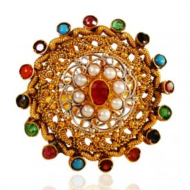 22KT Gold Precious Stones Ring