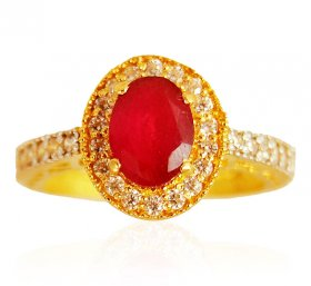 22K  Gold  Ruby Stone Ring ( Gemstone Rings )