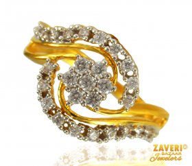 22 KT Gold Ladies Signity Ring ( Stone Rings )