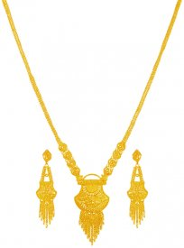 22K Gold Patta Haar Set   ( 22K Necklace Sets (Long) )
