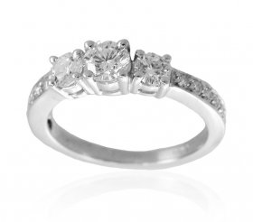 Certified Diamond 18K Ring