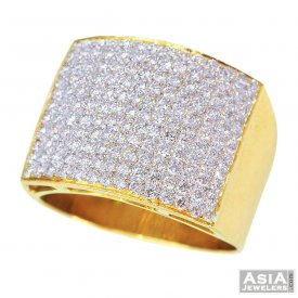 Exquisite Designer Diamond Ring 18K ( Diamond Rings (Mens) )