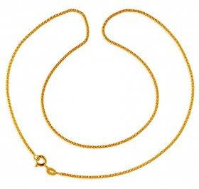 22K Yellow Gold Ladies Chain ( Plain Gold Chains )