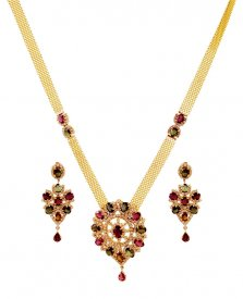 18k  Designer Diamond Set ( Diamond Necklace Sets )