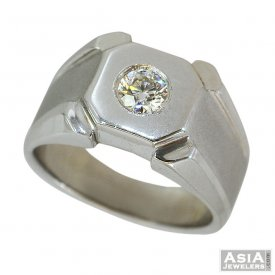 18K White Gold Fancy Diamond Ring