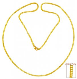 Fox Tail 22K Chain (22In) ( Plain Gold Chains )