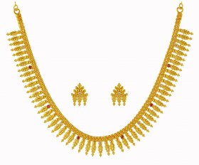 22K Gold Mullamottu Maala Set ( 22K Gold Necklace Sets )