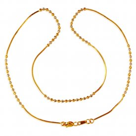 22Kt Gold Balls Chain (18 In) ( Gold Fancy Chains )