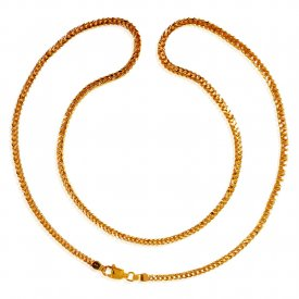 22Kt Gold Box Chain(20inch) ( Plain Gold Chains )