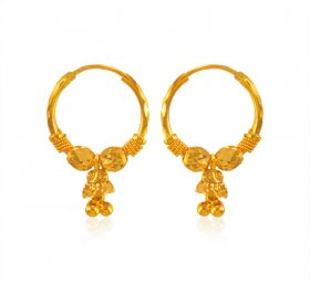 22 Karat Gold Hoop Earrings ( 22K Gold Hoops )
