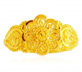 22Kt Gold Filigree Ring ( 22K Gold Rings )