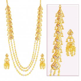 22K Gold Layered Set ( 22K Necklace Sets (Long) )