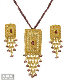 Diamond Polki Pendant Set ( Nizam Collection (Victorian) )
