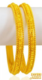 22kt Gold Bangles (Set of 2) ( 22K Gold Bangles )