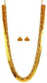 22 Karat Gold Ginni Set ( 22K Necklace Sets (Long) )