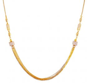 22K Gold Two Tone Balls Chain ( Gold Fancy Chains )